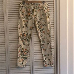 Citizens of Humanity floral pants.